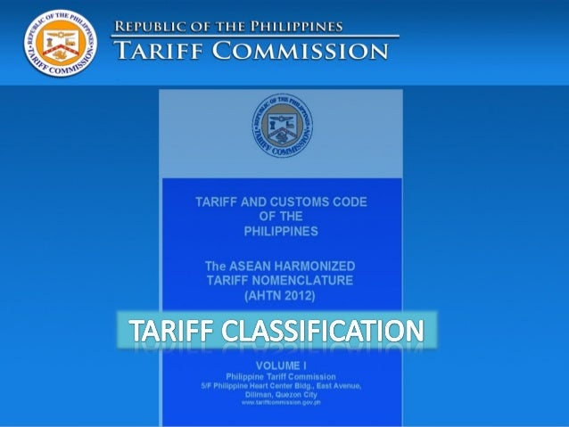 profile of philippine tariff system