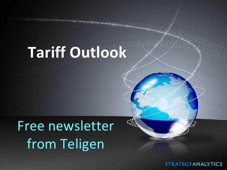 Tariff OutlookFree newsletter from Teligen