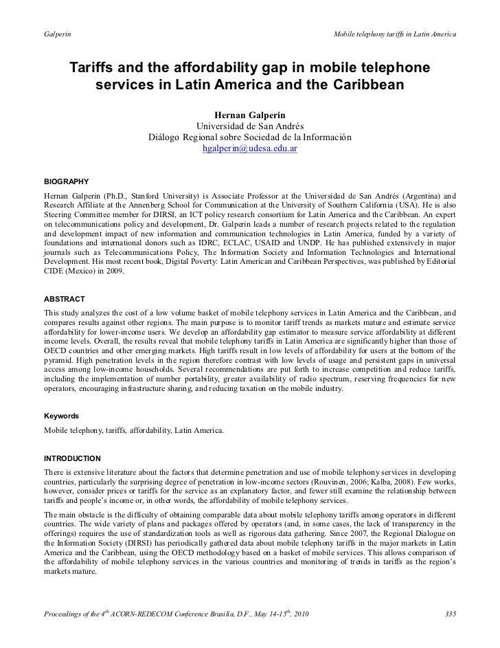 Galperin                                                                                 Mobile telephony tariffs in Latin...
