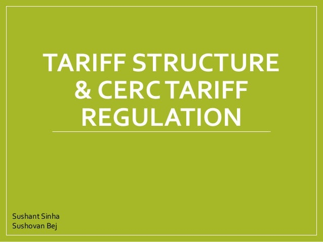 tariff types Types of tariffs • a specific tariffis levied as a fixed charge for each unit of imported goods ♦effective rates of protection often differ from tariff rates.