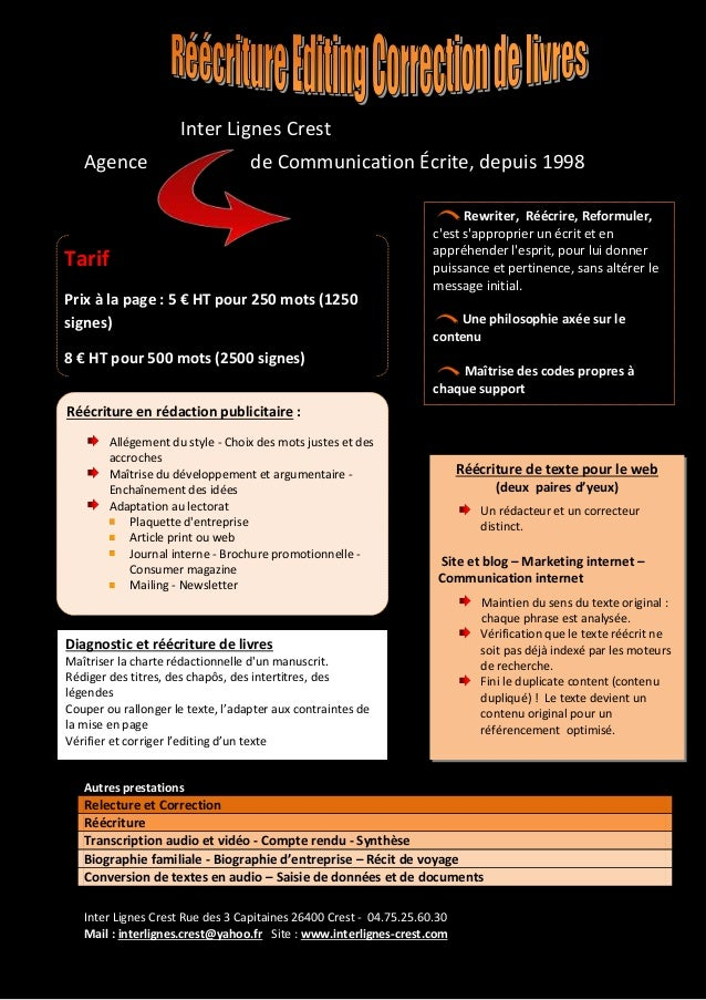 Inter Lignes Crest Rue des 3 Capitaines 26400 Crest - 04.75.25.60.30 Mail : interlignes.crest@yahoo.fr Site : www.interlig...