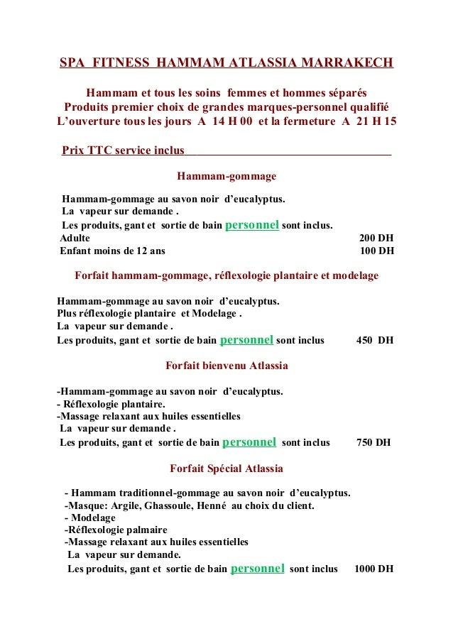 Tarif spa - Salon agriculture tarif ...