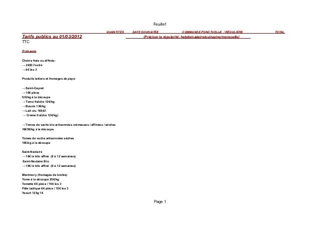 Feuille1                                                          QUANTITÉS   DATE SOUHAITÉE              COMMANDE PONCTUE...
