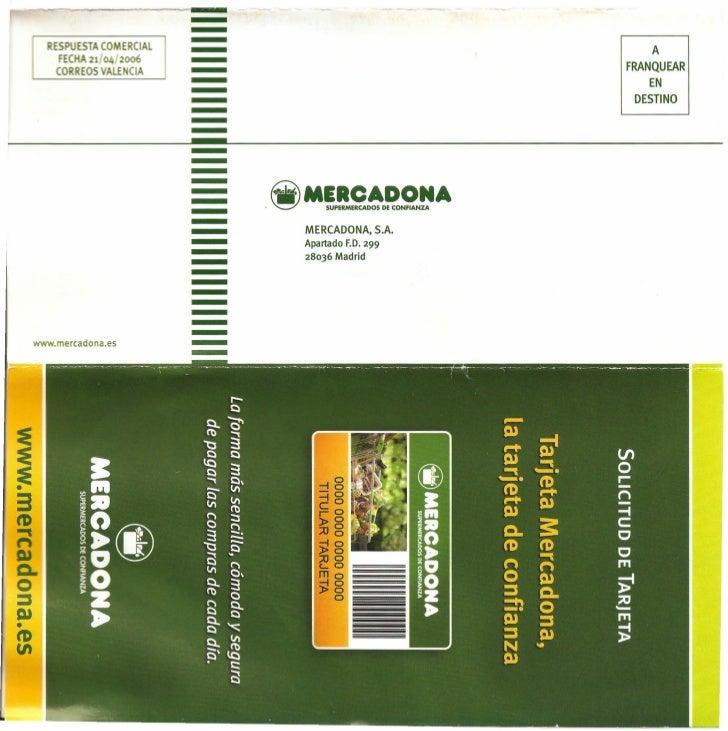 TARJETA AMAZON MERCADONA