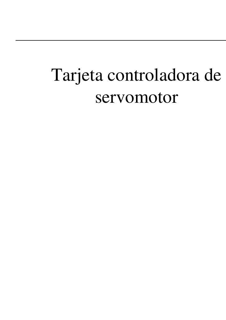 Tarjeta controladora de      servomotor