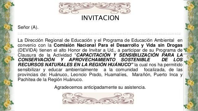 Tarjeta De Invitación Clausura Pea 2015