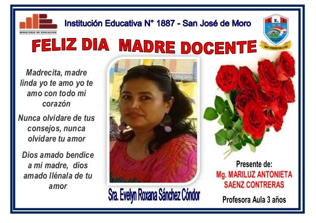 Tarjeta Recordatorio Dia De La Madre 2016 San Jose De Moro