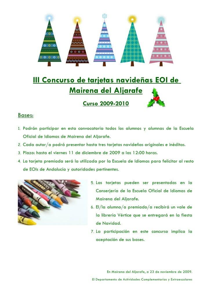 III Concurso de tarjetas navideñas EOI de                      Mairena del Aljarafe                                    Cur...
