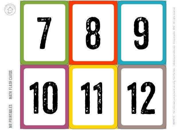 Tarjetas De Numeros Del 1 Al 10 Para Imprimir Compartir Tarjeta