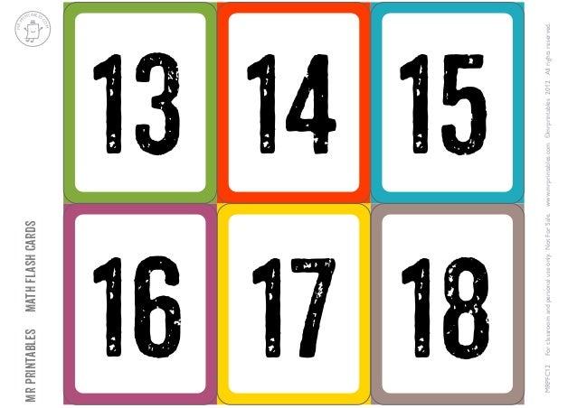 Imprimir Tarjetas De Numeros Del 1 Al 30 Compartir Tarjeta