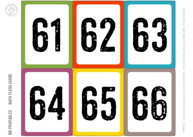 Tarjetas Numeros-61-100