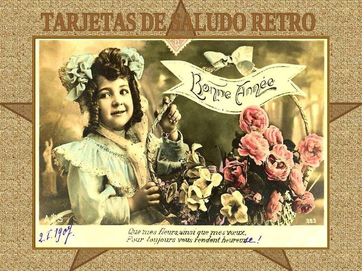 TARJETAS DE SALUDO RETRO