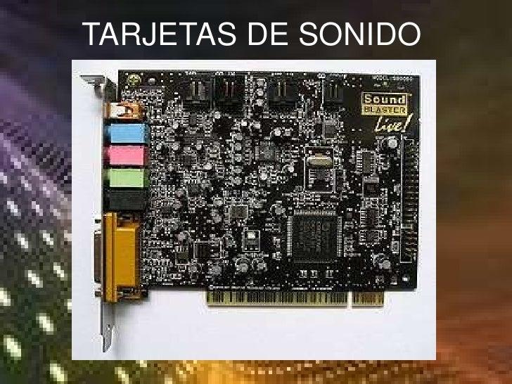 TARJETAS DE SONIDO<br />