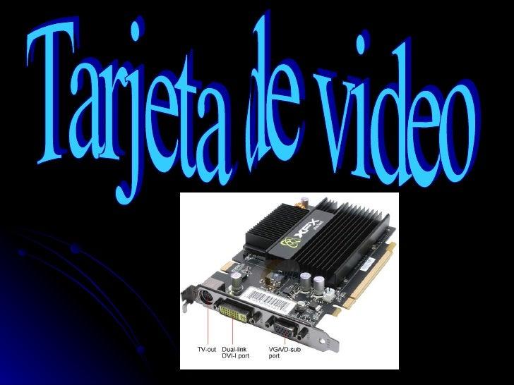 Tarjeta de video