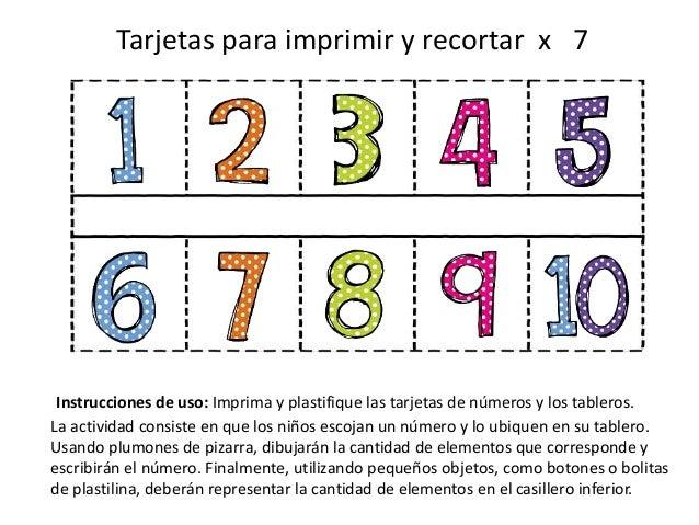 Tarjetas didácticas 1 10