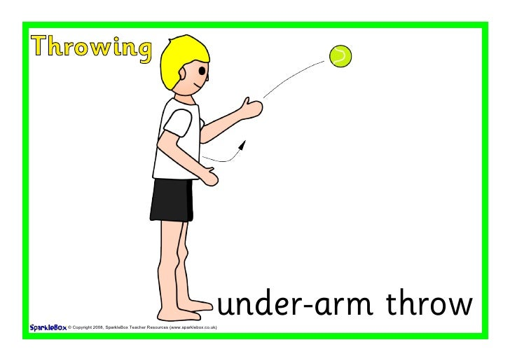 Throwing                                                                           under-arm throw   © Copyright 2008, Spa...