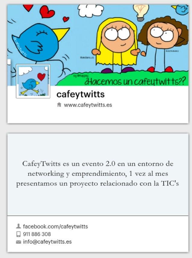Tarjeta de Cafeytwitts formato Fan Page de Facebook