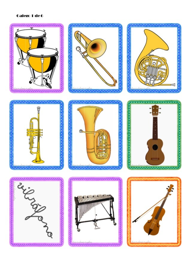 Tarjetas De Instrumentos Musicales
