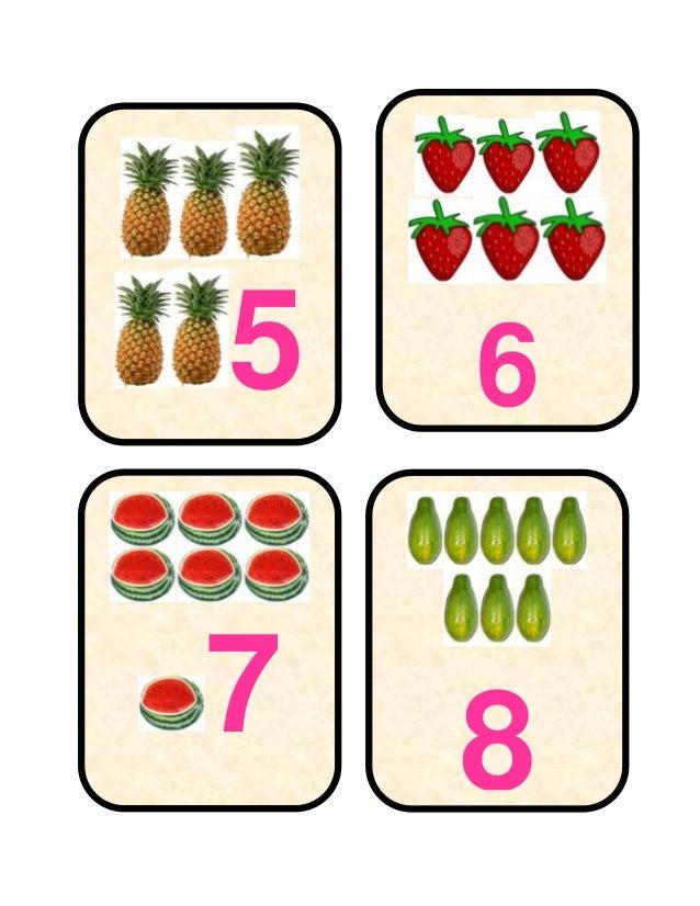 Tarjetas léxicas de relación de números Slide 2