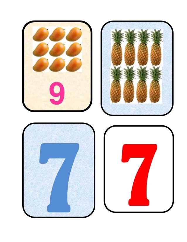 Tarjetas léxicas de relación de números Slide 3