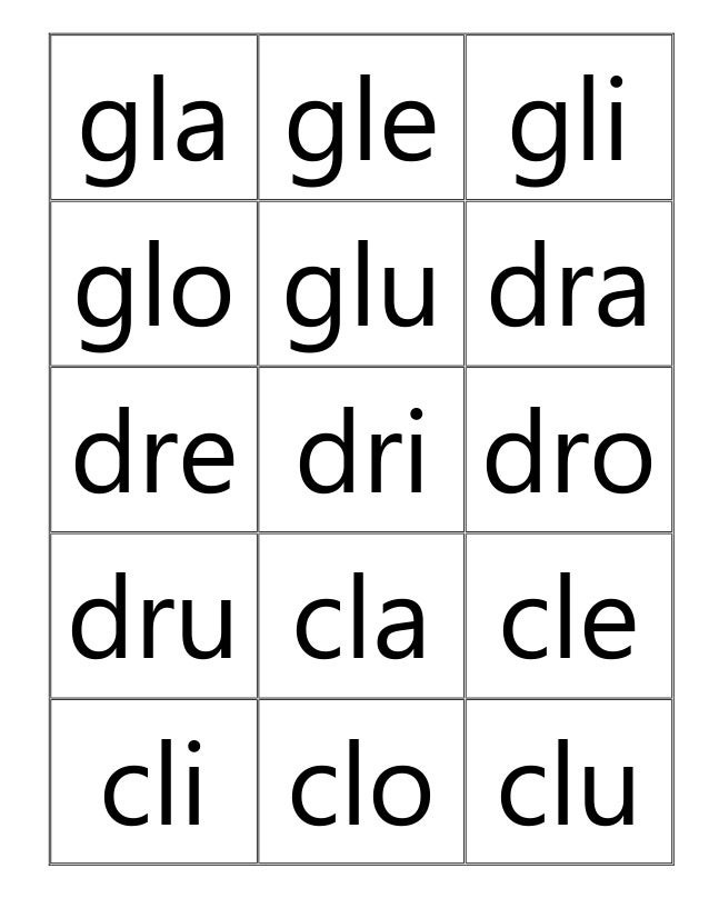 Dibujos Para Colorear Con La Letra Cla Cle Cli Clo Clu