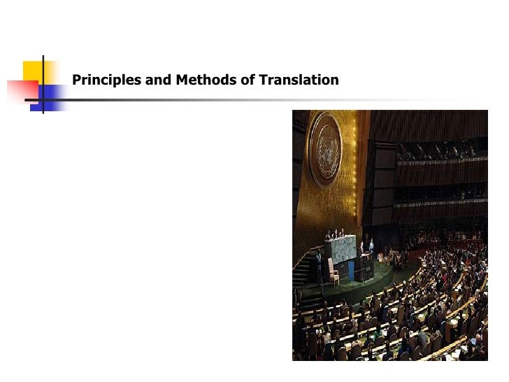 Principles and Methods of Translation