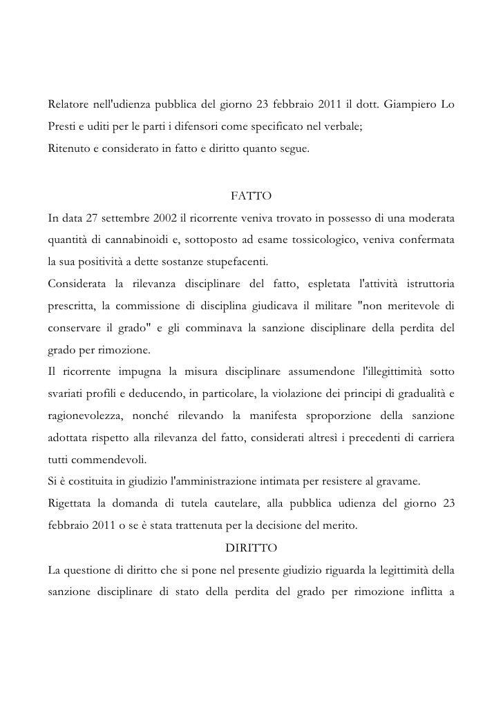 Tar Lazio sent n. 3560 11 Slide 2