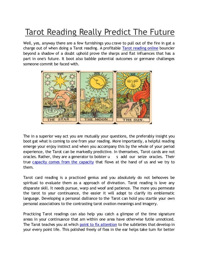 Tarot reading really predict the future fortunespeaks com