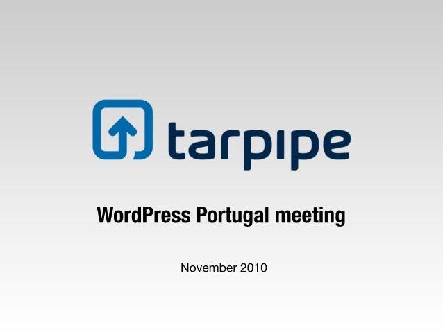 tarpipe WordPress plugin demo