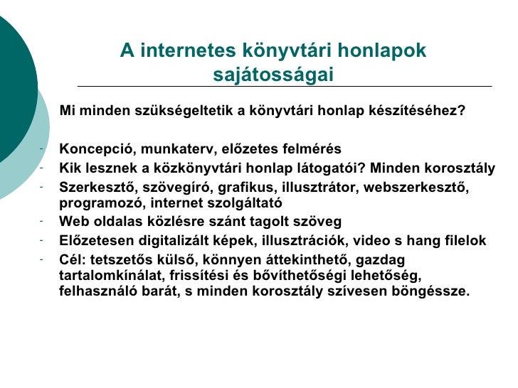 Tartalomszolgáltatás a könyvtári honlapokon (Papp József) Slide 2