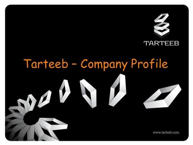 Tarteeb – Company Profile