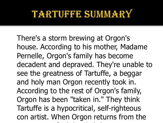 Tartuffe plot summary