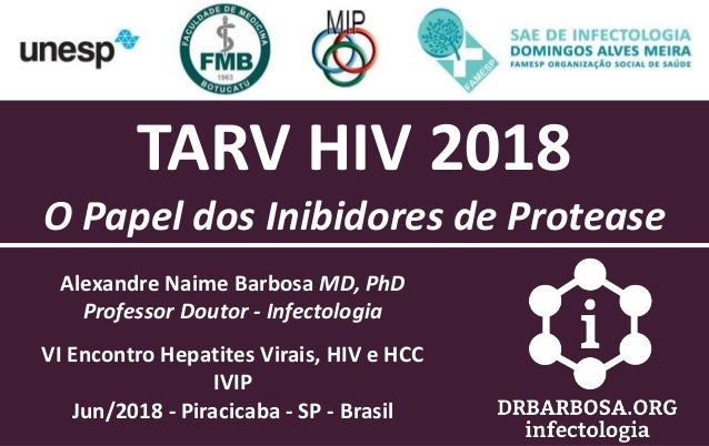 Alexandre Naime Barbosa MD, PhD Professor Doutor - Infectologia VI Encontro Hepatites Virais, HIV e HCC IVIP Jun/2018 - Pi...