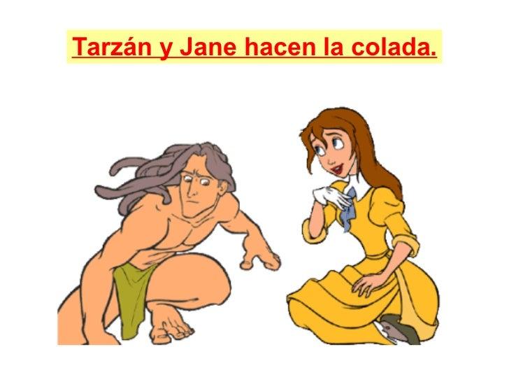 Tarzán y Jane hacen la colada.