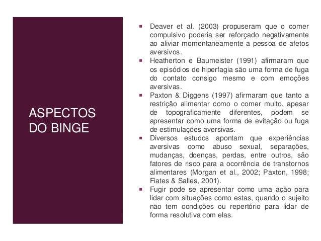 """OUTROS NOMES """"Medo mórbido da gordura"""". • (Russell, 1970) Uma """"busca de esbelteza"""" • (Brunch, 1973). """"Fobia de peso"""" • (Cr..."""