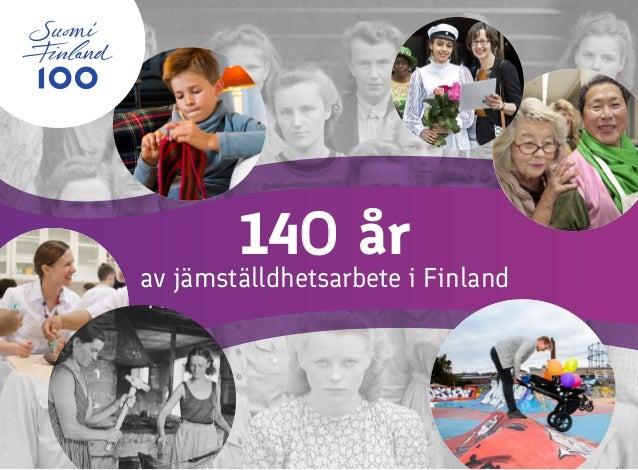 14o år av jämställdhetsarbete i Finland