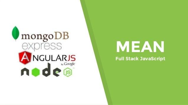 MEAN Full Stack JavaScript