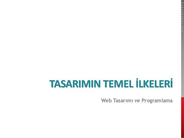 hakanbabac.net  TASARIMIN TEMEL İLKELERİ  Web Tasarımı ve Programlama