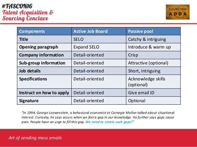 Art of sending Mass Mails - Ashish Peshave – Sourcing Lab