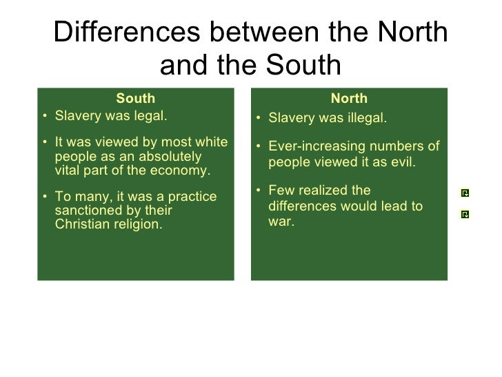the economic differences between the northern and southern states during the antebellum era Tracking the economic divergence of the north the differences between the northern and southern export from the united states in the antebellum.