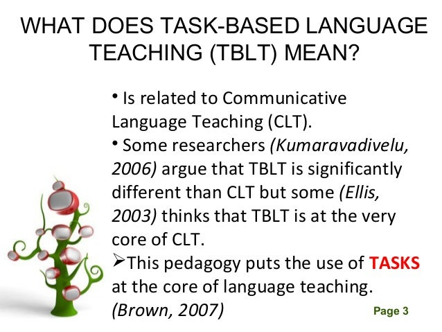 task based language teaching advantages disadvantages