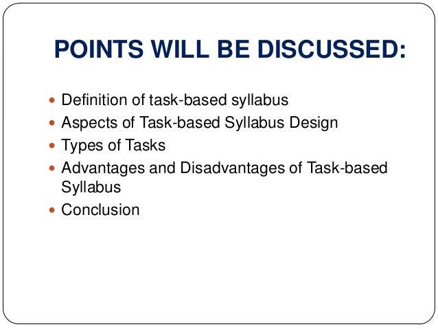 Horseshoe Classroom Design Advantages And Disadvantages : Task based syllabus