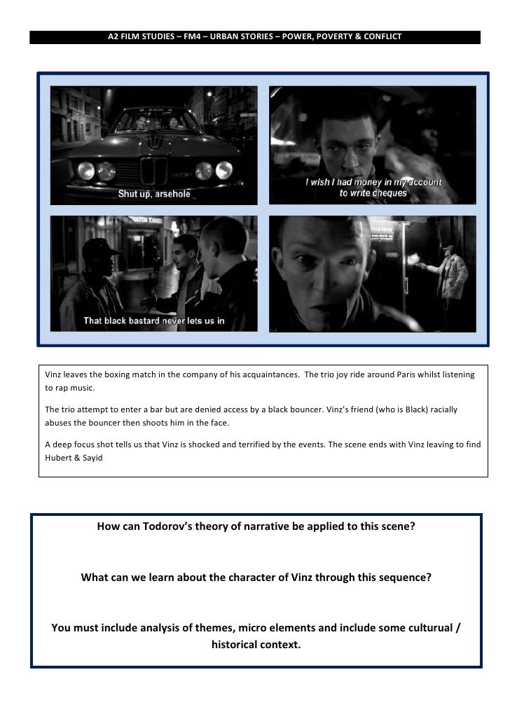 A2 FILM STUDIES – FM4 – URBAN STORIES – POWER, POVERTY & CONFLICTVinz leaves the boxing match in the company of his acquai...