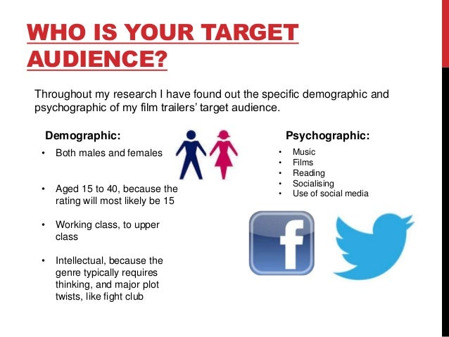 Task 1 - audience research summary presentation