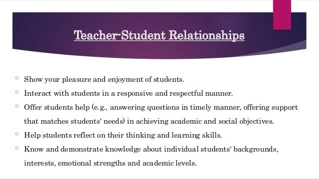 Developing Positive Relationships with Parents, Students and Other Te…