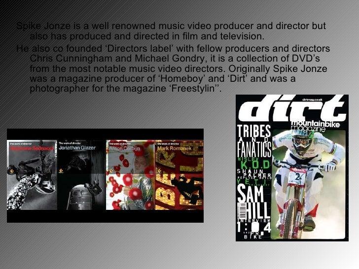 Task 11 Music Director Spike Jonze