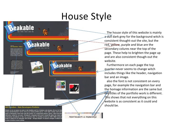 Hair Style Websites: Task 1 P1 Conventions, House Style