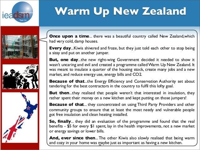 New Zeland Update: IEA DSM Task 24 Update For New Zealand Stakeholders