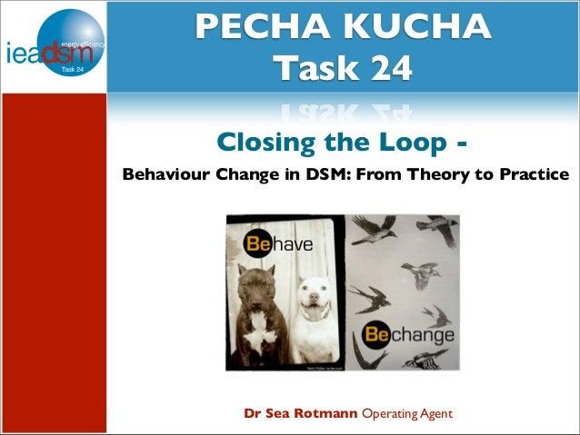 PECHA KUCHA      Subtasks of Task XXIV            Task 24          Closing the Loop -Behaviour Change in DSM: From Theory ...