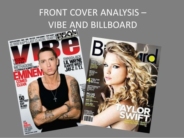 FRONT COVER ANALYSIS –  VIBE AND BILLBOARD